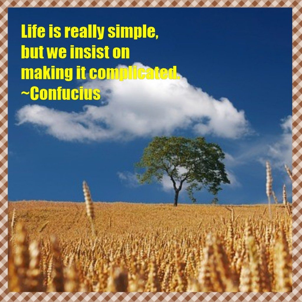 Simple Thoughts, Simple Life Confucius
