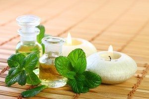 Aromatherapy - peppermint and sage