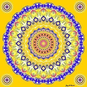 color therapy - blue and yellow mandala
