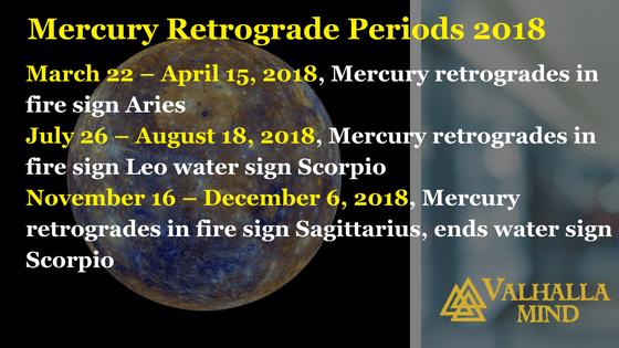 Mercury Retrograde 2018
