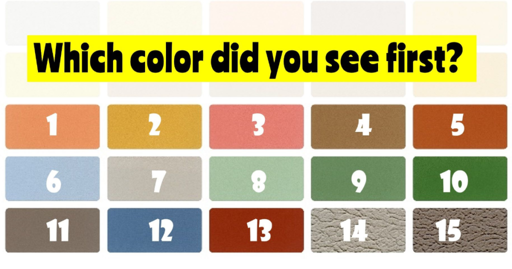 Color Test The Colors You See Can Determine Your Dominant Emotion