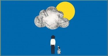 Illustration Francesco Ciccolella for the Guardian - how to stay happy - button
